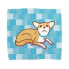 ULI_Tetoのテトさん(犬)青L Towel handkerchiefs