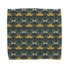 胃弱の絨毯 IJAKUCARPETの木の実泥棒(カラーブルー) Towel handkerchiefs