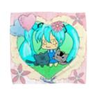 Miku Corporation  Galleryのmikuと愛猫 Towel handkerchiefs