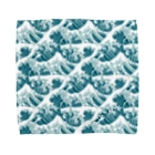 SANKAKU DESIGN STOREの富嶽三十六景の波がいっぱい。 Towel handkerchiefs