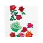 KAERUCAFE SHOPのバラ Towel handkerchiefs