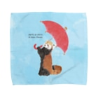 Zoo Keeperの雨のち晴れレッサーパンダ Towel handkerchiefs