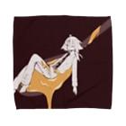 光合成するあかいろのスプーンひとさじ Towel handkerchiefs