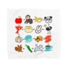 のぐちさきのゆるいしりとり(16コ) Towel handkerchiefs