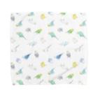 まめるりはことりのたっぷりセキセイインコちゃん【まめるりはことり】 Towel handkerchiefs