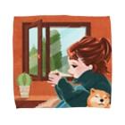 TELLのイラスト小屋のStay Home Towel Handkerchief
