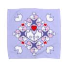 ERIKOERIN ART SHOPの「浪漫花」-ROMANKA-/タオルハンカチ(ラベンダー) Towel handkerchiefs