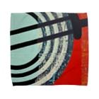 レターオールソーツのCircle work one Towel handkerchiefs