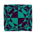 黒塚アキラ│本業×副業逆転目標🎶のNOT 市松模様(緑+紫) Towel handkerchiefs