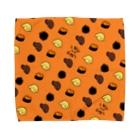 秋うかの犬とうに3(オレンジ) Towel handkerchiefs