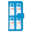 レモネードプールのミルク(ブルー)ウォレットフォンケースLウォレットフォンケース