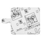 BabyShu shopのノスタルジー鷺ハムシリーズwhiteスマホケース ウォレットフォンケース