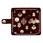 ERIKOERIN ART SHOPのlyricchord design/エンブレムスマホケース(チョコレート) ウォレットフォンケース