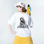 CXDXG POP SHOPのHPPJ_10 Washed T-shirtsの着用イメージ(裏面)