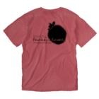 奄美の生き物応援隊のアマミノクロウサギ両面プリント Washed T-shirtsの裏面
