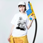 Itsu Horiguchiの配達中のひと Washed T-shirtsの着用イメージ(表面)