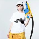 賽狐堂 ~PSYCHODO~のpayout Washed T-shirtsの着用イメージ(表面)