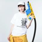 はまッシュ ショップのgenso_kinoko Washed T-shirtsの着用イメージ(表面)