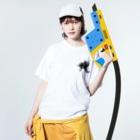 Kengo Salty Studioのアキレウス Washed T-shirtsの着用イメージ(表面)