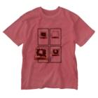 あざらしの7つどうぐの小倉トーストの作り方 Washed T-shirts