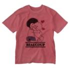 Funny Mill SUZURI店の抱っこワンコ Washed T-shirts