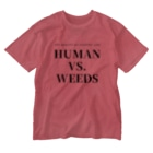 THE REALITY OF COUNTRY LIFEのHUMAN VS. WEEDS / BKTXT Washed T-Shirt