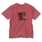 ALOHABOY&LOCOGIRLのLOCOちゃん Washed T-shirts