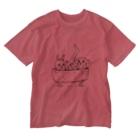 Buffys Movie キャラクター事業部のチャピー&美脚うさぎ Washed T-shirts