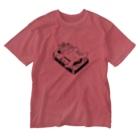 SYOKENのカバとカセットテープ Washed T-shirts