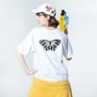 anco.の蝶 Washed T-shirtsの着用イメージ(裏面)