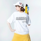 rainBoxのルーズベルトゲーム Washed T-shirtsの着用イメージ(裏面)