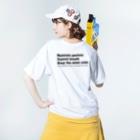Been KamakuraのZEN Washed T-shirtsの着用イメージ(裏面)
