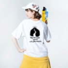 Gin_nan ni ameのWith good intentions Washed T-shirtsの着用イメージ(裏面)