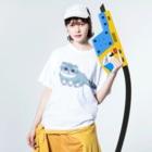 このえのマヌルネコ Washed T-shirtsの着用イメージ(表面)
