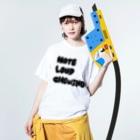 オカド商店のアンチ咀嚼音 Washed T-shirtsの着用イメージ(表面)