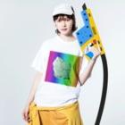 水草のMAPたん3 Washed T-shirtsの着用イメージ(表面)