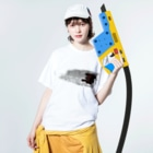 nanairo-factoryのブロックT Washed T-shirtsの着用イメージ(表面)