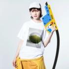 Danke Shoot Coffeeの柏餅(小豆) Washed T-shirtsの着用イメージ(表面)