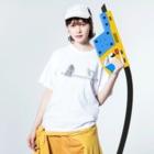 みあまゆあのDrinkMeスカル1 Washed T-shirtsの着用イメージ(表面)
