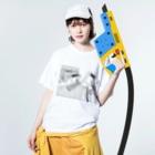 👻📗のかもめC-Tシャツ Washed T-shirtsの着用イメージ(表面)