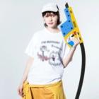 *suzuriDeMonyaa.tag*のCT47 POMERA_3 I'M WORKING Washed T-shirtsの着用イメージ(表面)