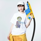office SANGOLOWのEverybody F__king junp Washed T-shirtsの着用イメージ(表面)