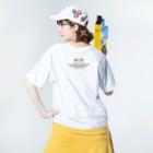 aliveONLINE SUZURI店のすずめだいきち1st Anniversary Washed T-shirtsの着用イメージ(裏面)