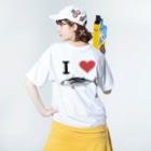 AAAstarsの鰹 Washed T-shirtsの着用イメージ(裏面)