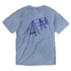 竹下キノの店の鉄塔設備 Washed T-shirtsの裏面