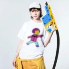 ぽにぽに通信ショップのponiponi_only Washed T-shirtsの着用イメージ(表面)