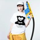 Candeed Creativeのマレーグマ(ロゴあり) Washed T-shirtsの着用イメージ(表面)
