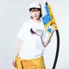 ひねもす屋 2号店のルリカケス Washed T-shirtsの着用イメージ(表面)