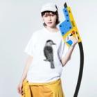 まつのき商店のホシガラス Washed T-shirtsの着用イメージ(表面)