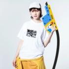 yanagiの紫陽花 Washed T-shirtsの着用イメージ(表面)
